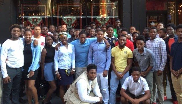 Irvington High School Football Team & Jim Petrucci Visit NYC!