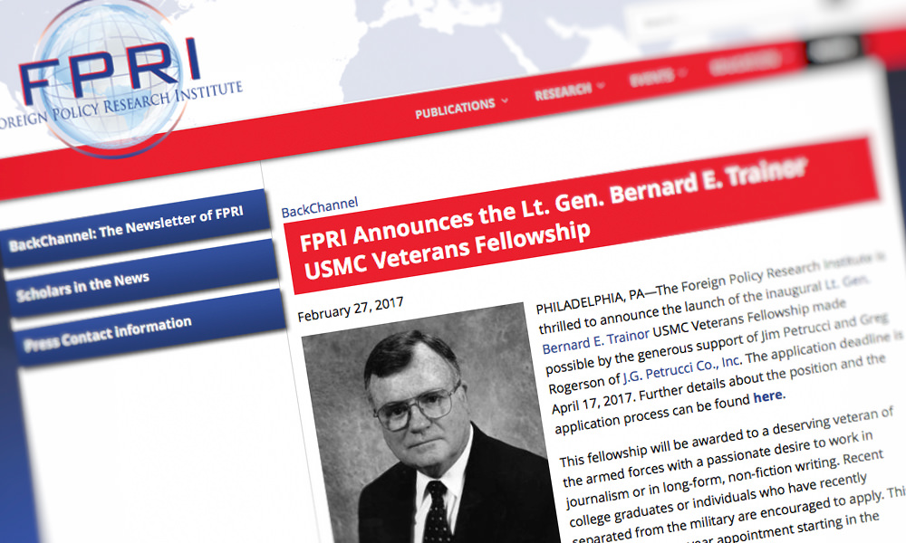 J.G. Petrucci Launches Journalism Fellowship for Veterans!
