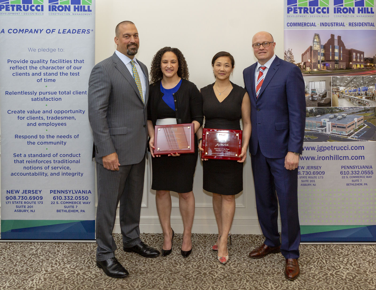 Attorneys of the Year Lillian Plata and Jong Nee Sook, Nee Plata Law LLC Thanks for your work on J.G. Petrucci's 90-unit work force housing in Plainfield, New Jersey!